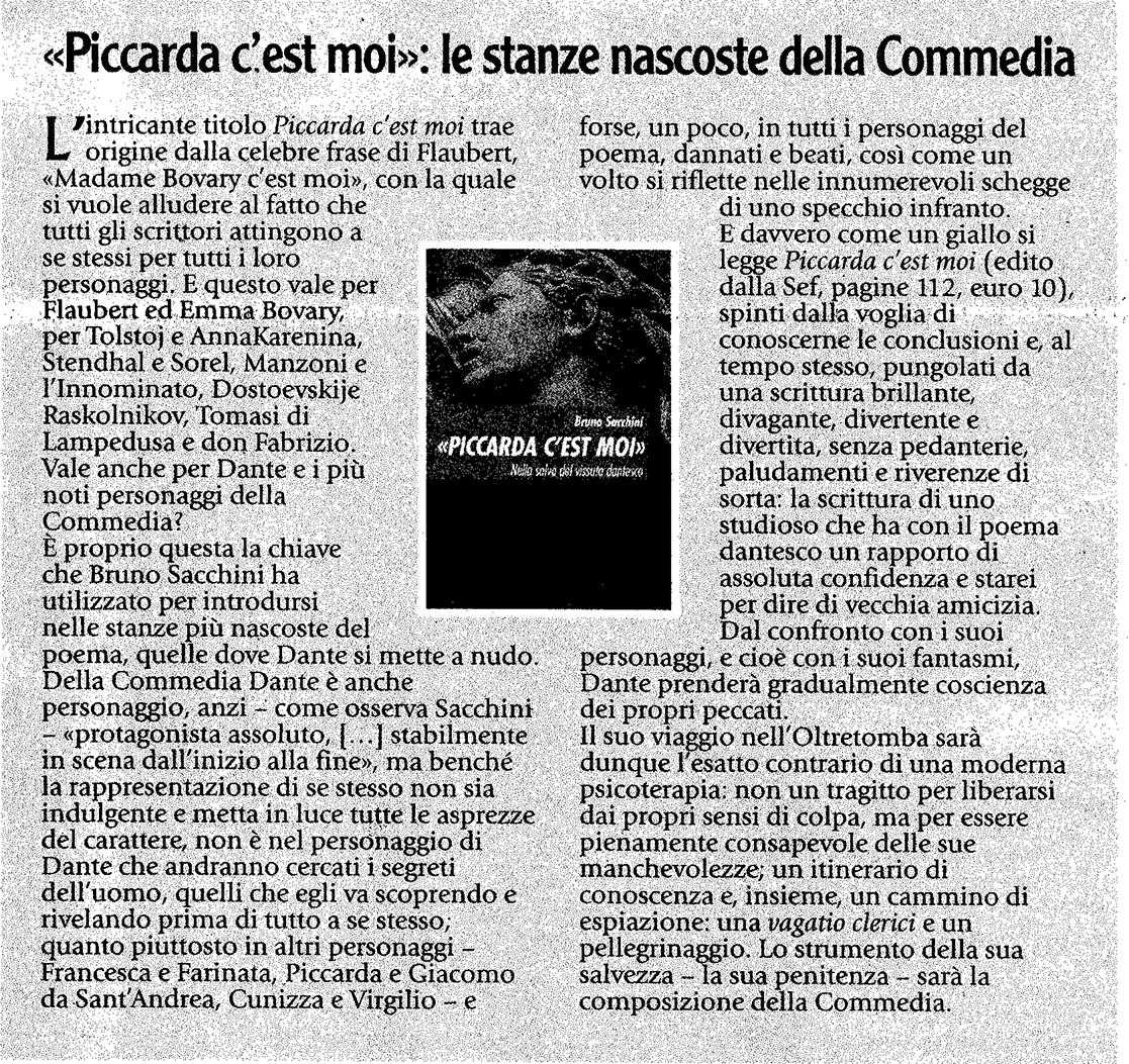 Sefeditrice bruno sacchini piccarda c 39 est moi - Divo barsotti meditazioni ...