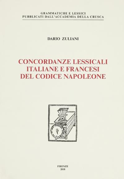 Concordanze lessicali italiane e francesi del Codice Napoleone