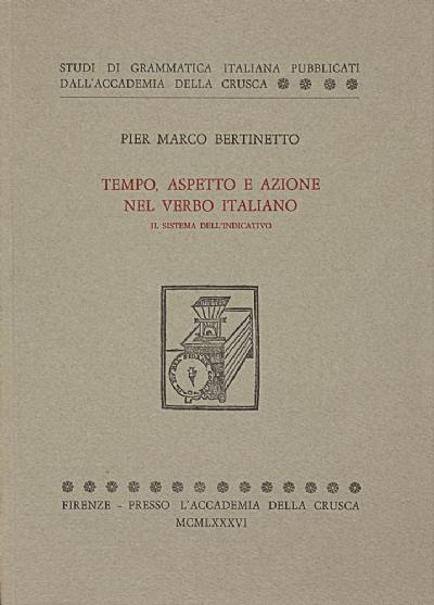 Tempo, aspetto e azione nel verbo italiano