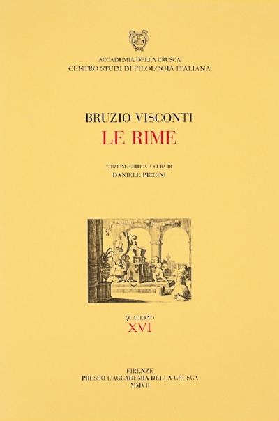 Le Rime di Bruzio Visconti