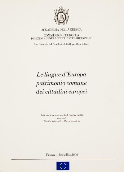 Le lingue d'Europa patrimonio comune dei cittadini europei