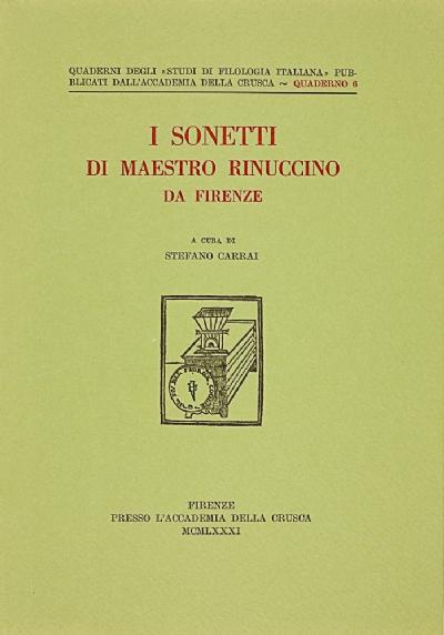 I sonetti di maestro Rinuccino da Firenze