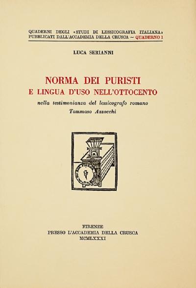 Norma dei puristi e lingua d'uso nell'Ottocento