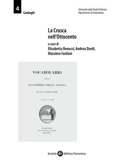 La Crusca nell'Ottocento