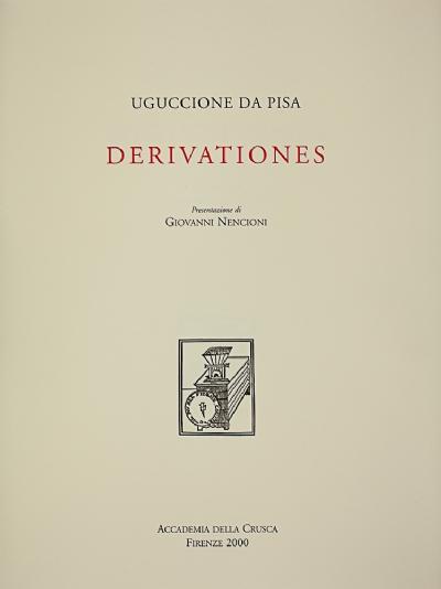 Derivationes di Uguccione da Pisa