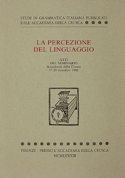 La percezione del linguaggio