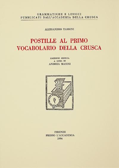 Postille al primo Vocabolario della Crusca
