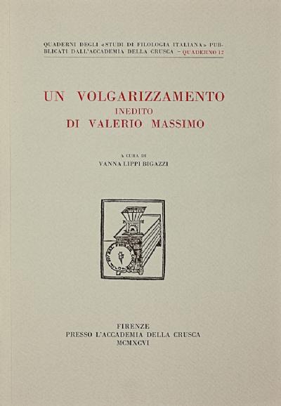Un volgarizzamento inedito di Valerio Massimo