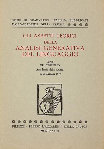 Gli aspetti teorici della analisi generativa del linguaggio