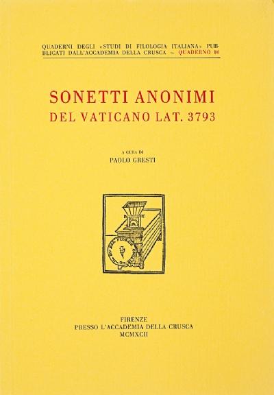 Sonetti anonimi del Vaticano lat. 3793
