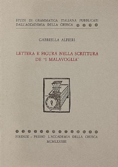 Lettera e figura nella scrittura de «I Malavoglia»