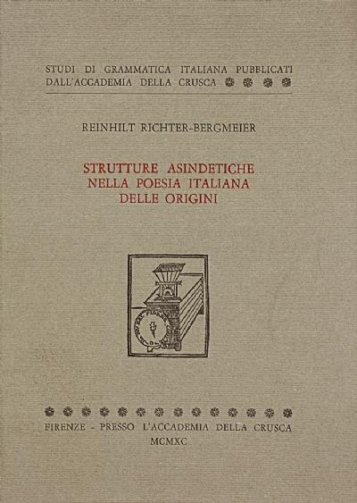 Strutture asindetiche nella poesia italiana delle origini