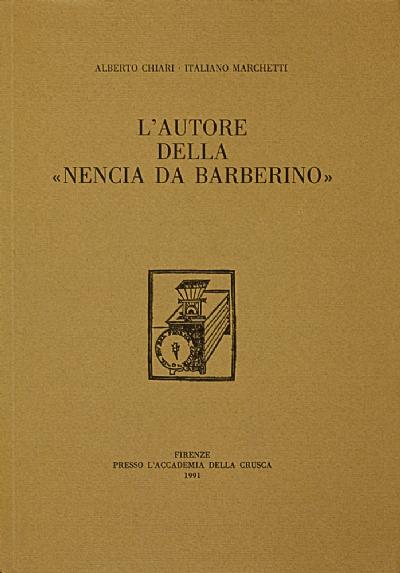 L'autore della «Nencia da Barberino»