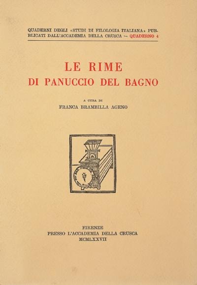 Le rime di Panuccio Del Bagno
