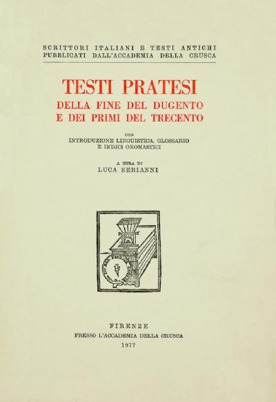 Testi pratesi della fine del Dugento e dei primi del Trecento
