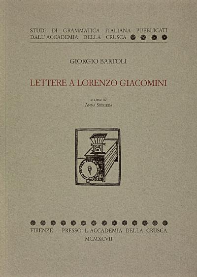 Lettere a Lorenzo Giacomini