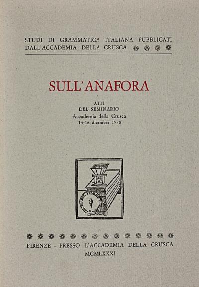 Sull'anafora