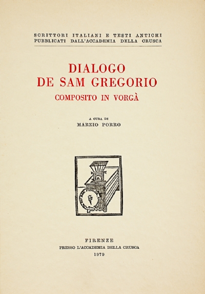Dialogo de Sam Gregorio composito in vorgà
