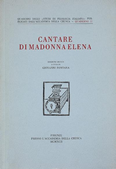 Cantare di Madonna Elena