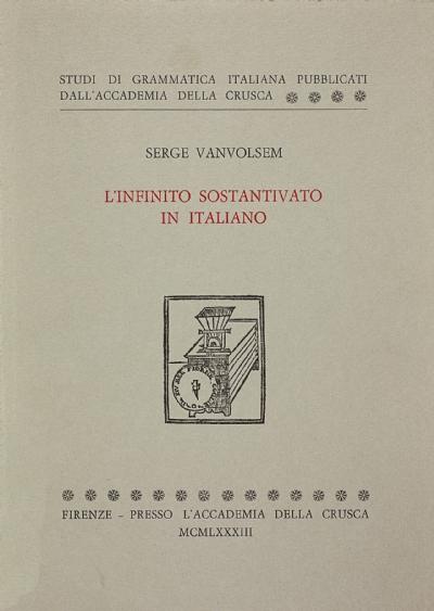 L'infinito sostantivato in italiano