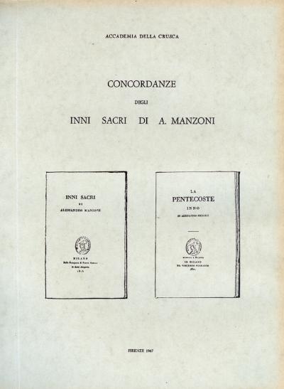 Concordanze degli «Inni sacri» di A. Manzoni