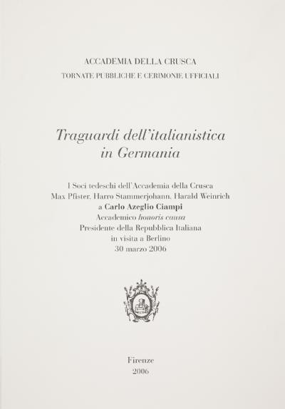 Traguardi dell'italianistica in Germania