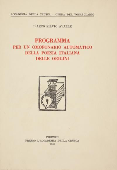 Programma per un omofonario automatico della poesia italiana delle Origini