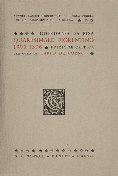 Quaresimale fiorentino, 1305-1306