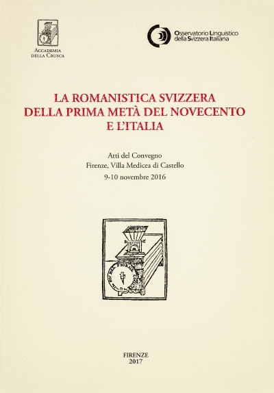 La romanistica svizzera della prima metà del Novecento e l'Italia